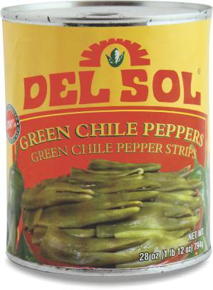 Green Chiles Csíkok 794 g Del Sol