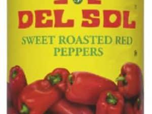 Pecené papriky cervené 795 g Del Sol