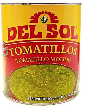 Tomatillos zúzott 2,8 kg